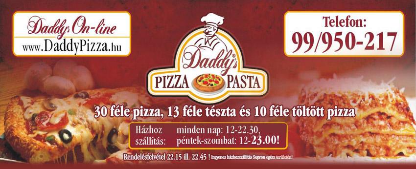 7a2c48187f Daddy's Pizza SOPRON | Online Rendelés Pizza Házhozszállítás